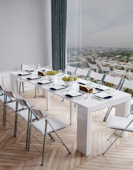 Junior-Giant-revolution-with-12-nanos-around-the-table-in-glossy-white-in-modern-setting