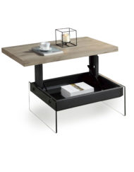 The-Cadence-Mini-Lift-Storage-table-with-glass-base-and-wood-top-opened