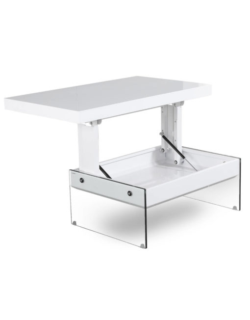 The-Mini-Cadence-lifting-top-storage-coffee-table-in-glossy-white-with-glass-base-legs