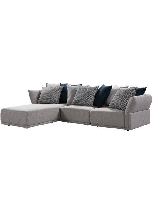 4 module sectional stratus sofa includes a large ottoman