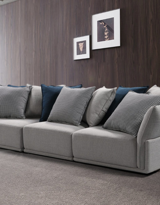 Stratus 3 seat wide sofa in stunning modern home