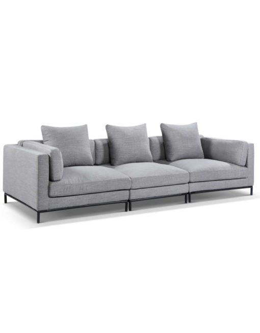 3 seat wide sofa modular design by expand furniture - Migliore sofa in grey fabric