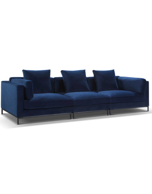 Designer Modern Navy blue wide sofa for luxury comfort - Migliore Modular sofa