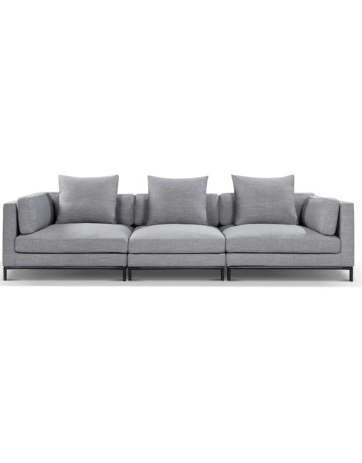 Mid century modern wide sofa for comfort and lounging sofa in grey migliore