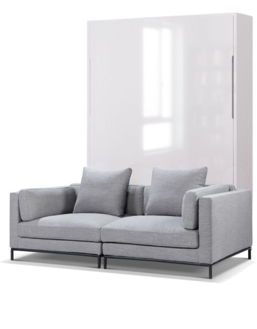 MurphySofa-Migliore-2-seat-sofa-system in new iron grey with glossy white wall bed