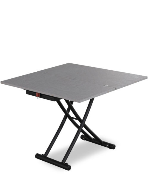 Transforming table 3 - in concrete texture - converts from coffee table into a dinner table for 4