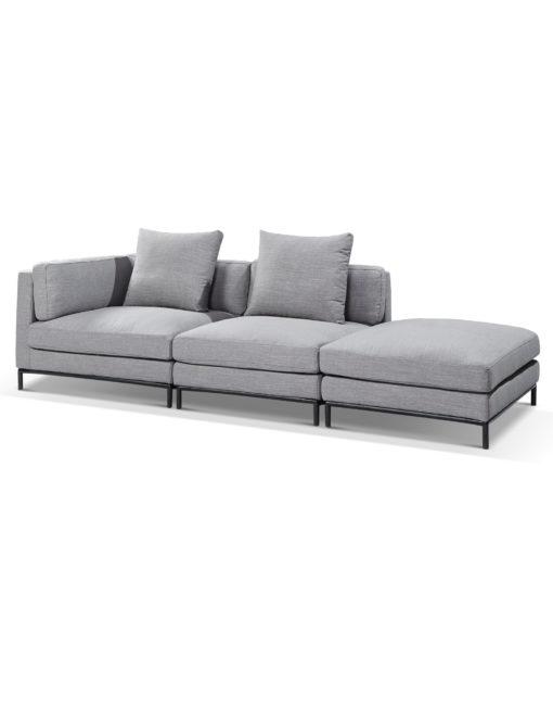 Migliore – Contemporary 3 module sofa x - New Iron Grey