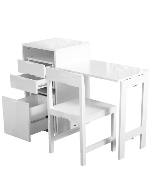 Ludovico-micro-office-open-with-hidden-chair-and-table-in-office-cabinet-Glossy-White