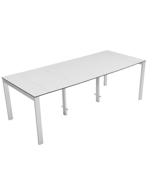 Outdoor Gigante Transformer Table - Extended to seat 10 people in outdoor setting