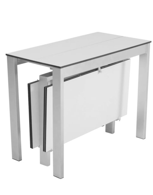 Outdoor Gigante Transformer Table - weatherproof extending table in white