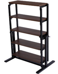 The shelf table - balanced shelving converts into dinner table - chocolate walnut color