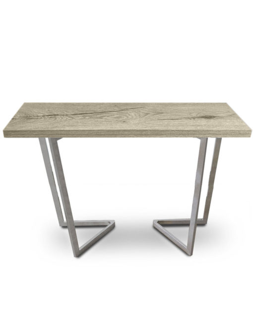 Counter-Height-Flip-Expanding-table in Grano panel and silver legs