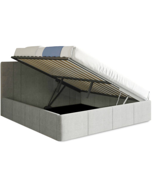 Reveal Queen lift storage bed in new light grey fabric